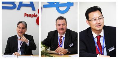 高宝亚太区销售副总裁海杜克先生,单张纸市场总监Veil先生以及中国销售总经理王联彪先生